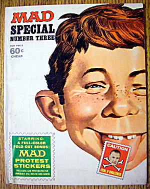Mad Magazine Special #3 1970 Protest Stickers