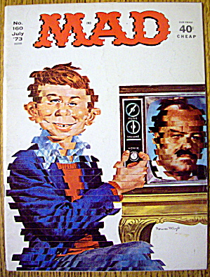 Mad Magazine July 1973 Alfred E. Neuman & Television