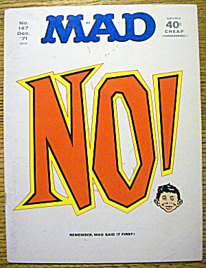 Mad Magazine #147 December 1971 No