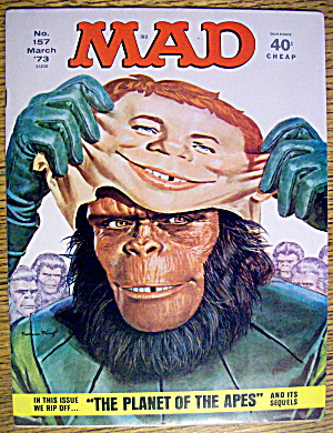 Mad Magazine #157 March 1973 Planet Of The Apes