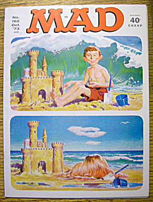 Mad Magazine #162 October 1973 Alfred Neuman On Beach