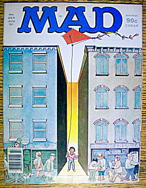 Mad Magazine #224 July 1981 Alfred Flying A Kite
