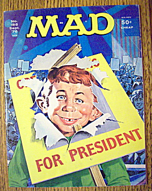 Mad Magazine #185 September 1976 Alfred For President