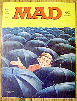 Mad Magazine #175 June 1975 Alfred Neuman & Umbrellas (Image1)