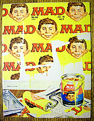 Mad Magazine #148 January 1972 Paint Can & Roller