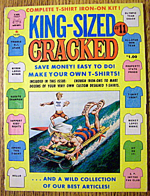 Cracked Magazine #11 1977 (King Sized) T-shirt Iron Ons