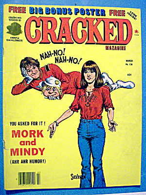 Cracked Magazine #158 March 1978 Mork & Mindy