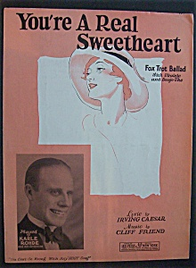 Sheet Music For 1928 You're A Real Sweetheart