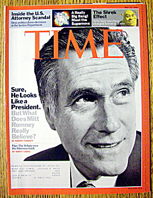 Time Magazine May 21, 2007 Mitt Romney