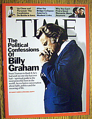 Time Magazine August 20, 2007 Billy Graham