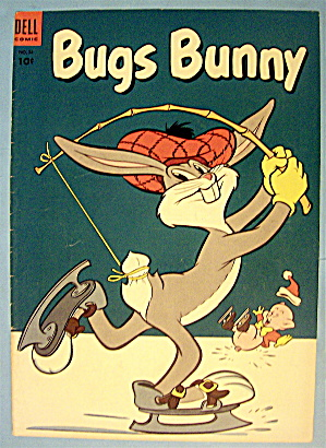 Bugs Bunny Comic Cover #34 December-january 1954