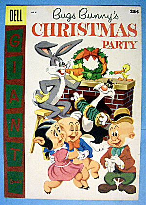 Bugs Bunny's Christmas Party Comic Cover #6-1955