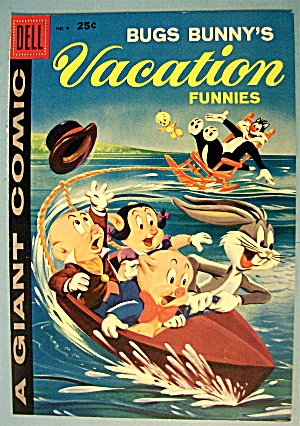 Bugs Bunny Vacation Funnies Comic Cover #9-1959