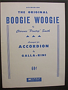 Sheet Music For 1944 The Original Boogie Woogie