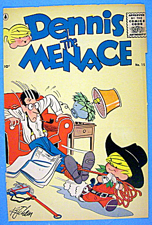Dennis the Menace Comic Cover #15 March 1956 (Image1)