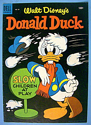 Donald Duck Comic Cover #39 January-february 1955