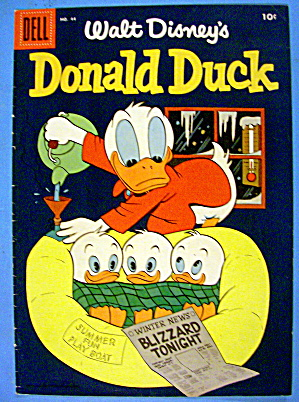 Donald Duck Comic Cover #44 December 1955