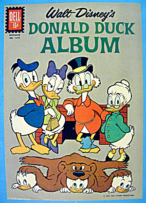 Donald Duck Album Comic Cover #1239 December 1961