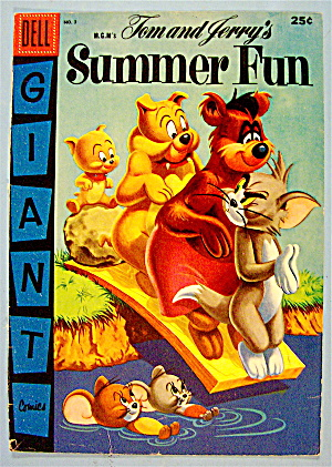 Tom & Jerry's Summer Fun Comic Cover #3 1956 Tom/jerry