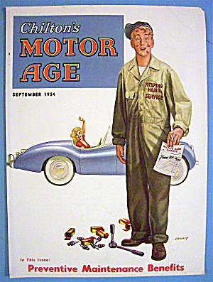Motor Age Magazine Cover-september 1954-bradley