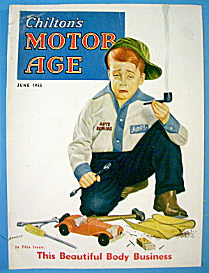 Motor Age Magazine Cover-june 1955-bradley