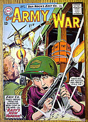 Our Army At War Comic #142 May 1964 Easy's New Topkick