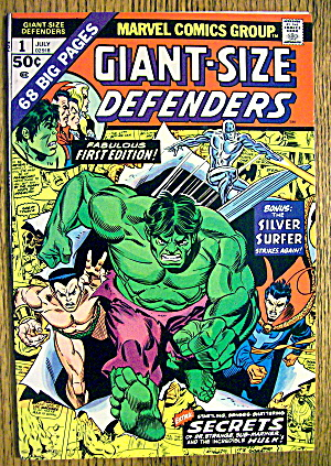 Defenders Comic #1 July 1974 Silver Surfer (Image1)