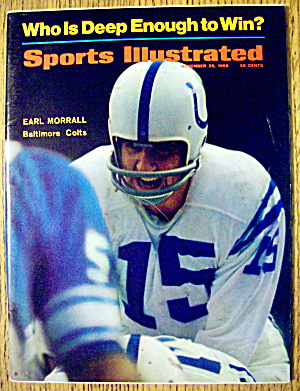 Sports Illustrated November 25, 1968 Earl Morrall