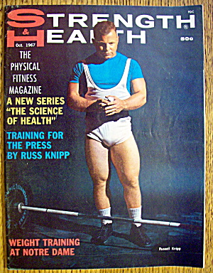 Strength & Health Magazine-october 1967-russell Knipp