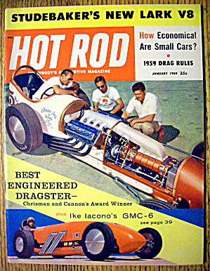 Hot Rod Magazine January 1959 Best Engineered Dragster