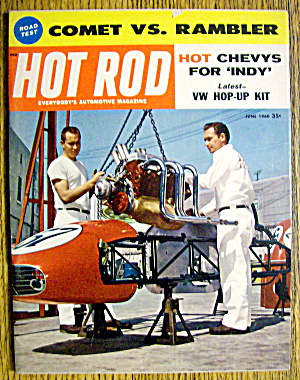 Hot Rod Magazine June 1960 Hot Chevys For Indy