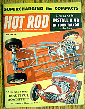 Hot Rod Magazine July 1960 Beautiful Roadster
