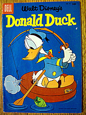 Walt Disney's Donald Duck Comic #47 May-june 1956 Ship