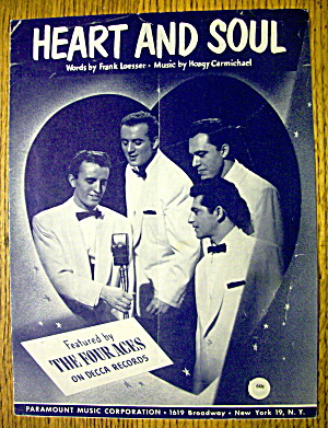 Sheet Music For 1938 Heart & Soul By Frank Loesser