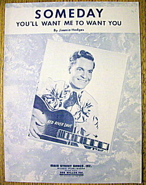 Sheet Music For 1944 Someday By Jimmie Hodges