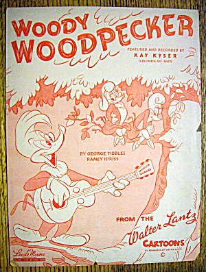 Sheet Music for 1947 Woody Woodpecker By Kay Kyser (Image1)