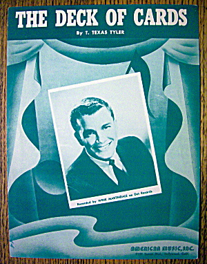 Sheet Music For 1952 The Deck Of Cards-wink Martindale