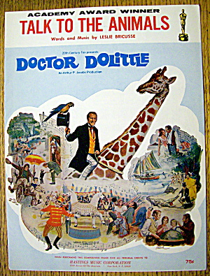 1967 Talk To The Animals By Leslie Bricusse-dr Dolittle