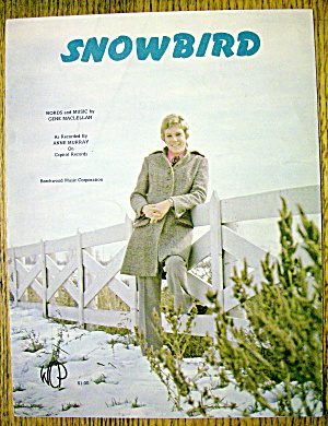 Sheet Music For 1970 Snow Bird By Anne Murray (Cover)