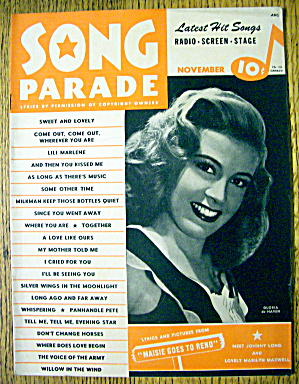 Song Parade November 1944 Gloria De Haven