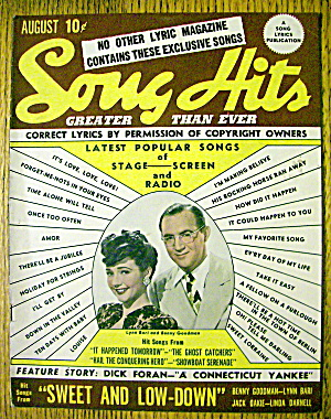 Song Hits Magazine August 1944 Lynn Bari & Ben Goodman