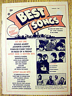 Best Songs Magazine August 1968 Monkees & Beatles
