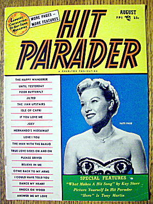 Hit Parader Magazine August 1954 Patti Page Cover