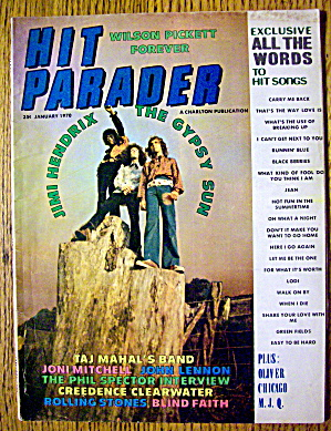 Hit Parader January 1970 Jimi Hendrix