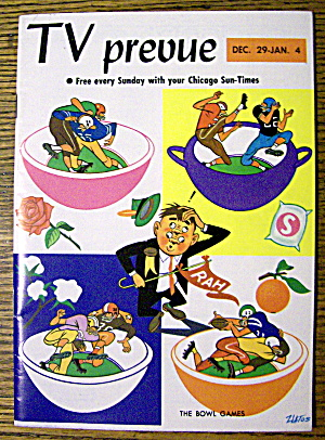 Tv Prevue December 29-january 4, 1963 The Bowl Games
