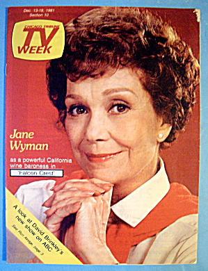 Tv Week December 13-19, 1981 Jane Wyman (Falcon Crest)