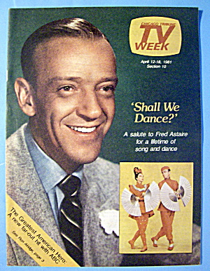 Tv Week April 12-18, 1981 Fred Astaire