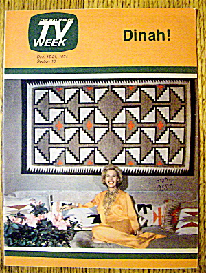 Tv Week December 15-21, 1974 Dinah Shore