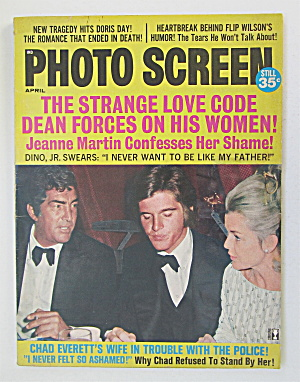 Photo Screen Magazine April 1971 Dean Martin
