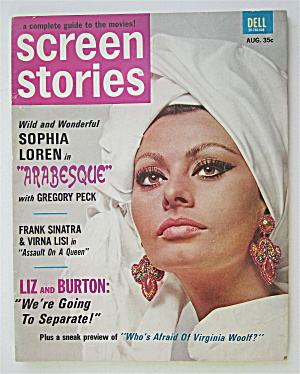 Screen Stories Magazine August 1966 Sophia Loren
